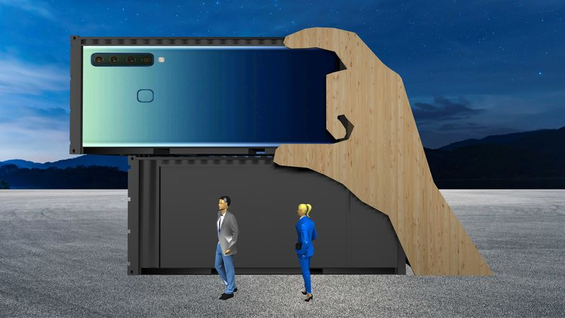 "Präsentations-Container - Modell ""App"" inkl. LED-Video-Wall"