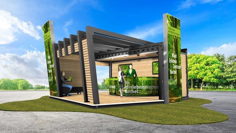 "Informations-Container - Modell ""Pavillion"""